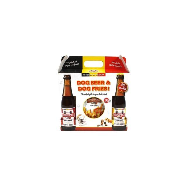 Snuffle Gift Box Hondenbier Met Friet -1100 gram