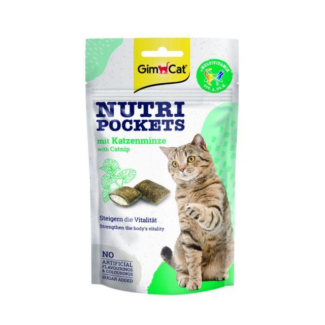 Gimcat Nutri pockets Multi-Vitamin & kattenkruid -60 gram