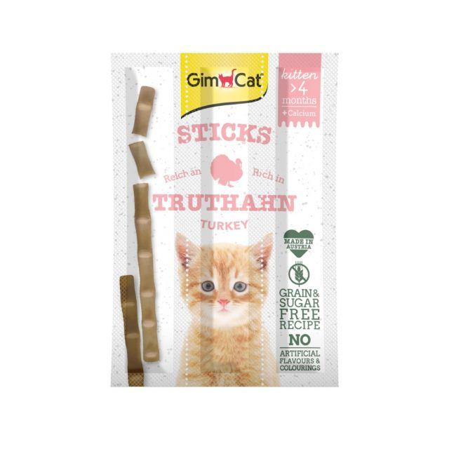 Gimcat Kitten Sticks met Kalkoen & Calcium - 3 stuks