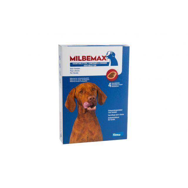 Milbemax Kauwtabletten Grote Hond - 4 stuks