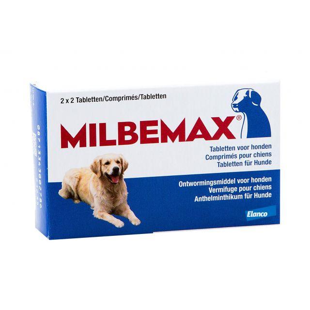 Milbemax Grote Hond vanaf 5 kg - 4 stuks