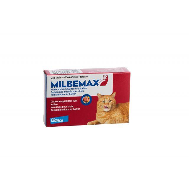 Milbemax Grote Kat vanaf 4 kg - 4 stuks