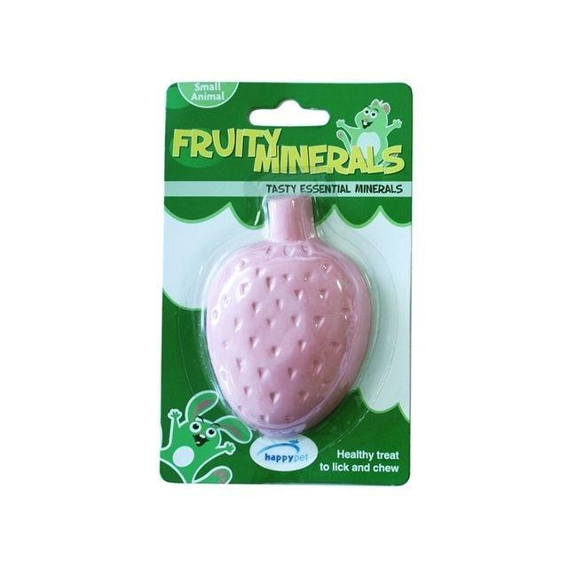 Happy Pet Fruity Mineral Aardbei - 210 ml 9,5x6,5x2,5 cm