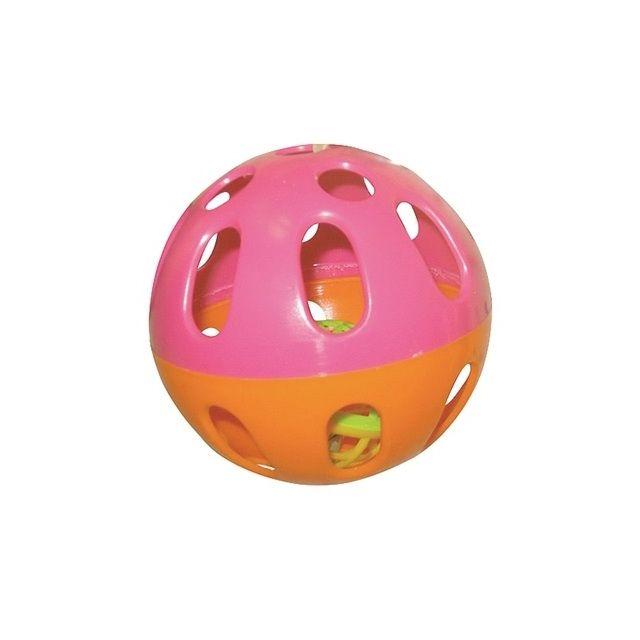 Happy Pet Knaagspeeltje Speelbal Plastic Assorti - 6,5x6,5x6,5 cm
