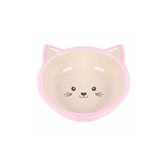 Happy Pet Voerbak Kitten Roze / Creme -200 ml