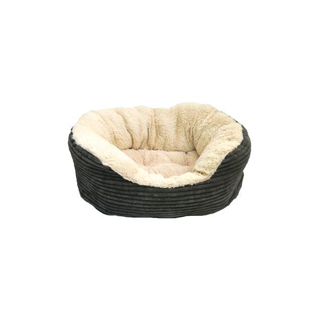 Rosewood Hondenmand Ovaal Jumbo Cord Pluche Grijs / Creme -51 cm