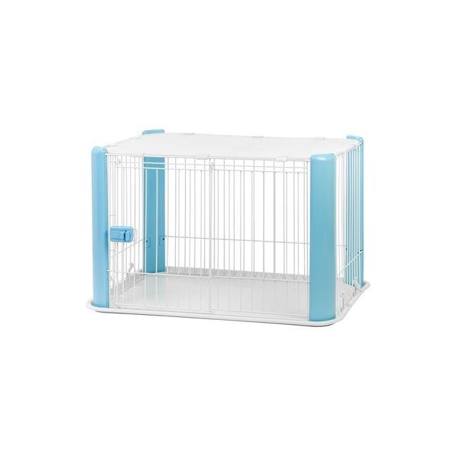 Puppyren Met Dak Blauw - 92x63x60 cm