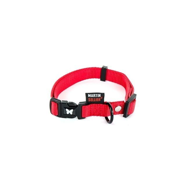 Martin Sellier Halsband Nylon Rood Verstelbaar 25 Mmx45-65 cm