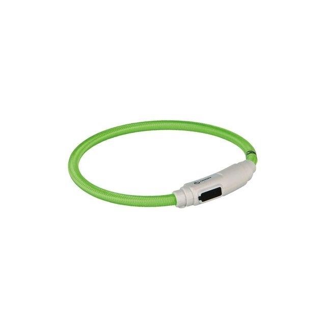 Trixie Halsband Kat Flash Light Lichtgevend Usb Oplaadbaar groen -7 Mmx35 cm