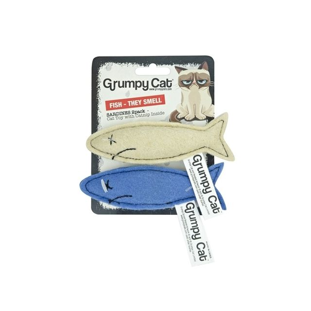 Grumpy Cat Sardines Met Catnip - 2 Stuks