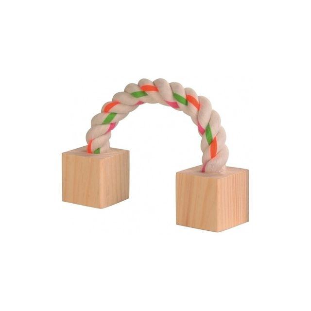 trixie speeltouw met hout 20 CM