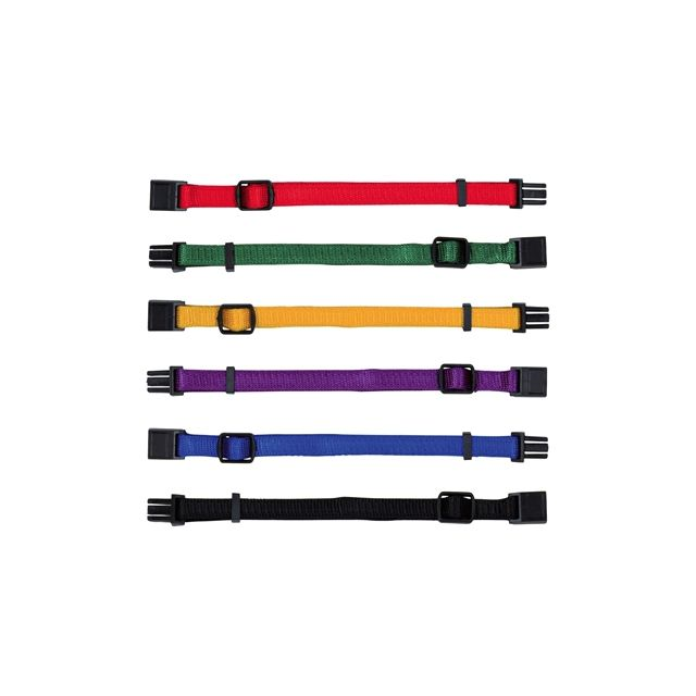 Trixie Puppy Halsband Set Rood / Groen / Geel / Paars / Blauw / Zwart -22-35 cm5 cm -6 st