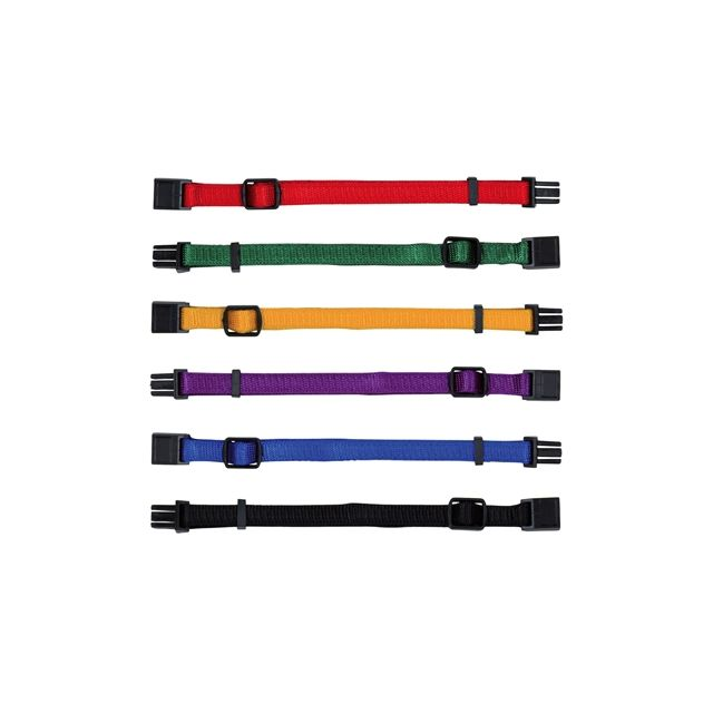 Trixie Puppy Halsband Set Rood / Groen / Geel / Paars / Blauw / Zwart -17-25 cm -6 st