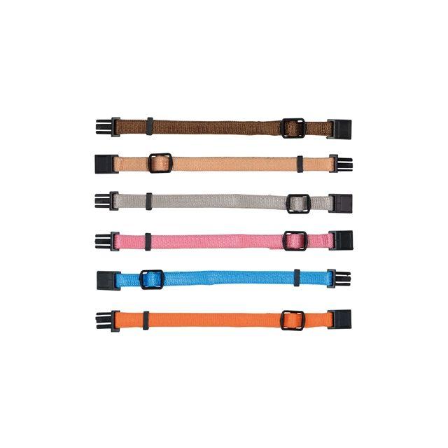 Trixie Puppy Halsband Set Bruin / Beige / Grijs / Roze / Blauw / Oranje- 22-35 cm 6 st
